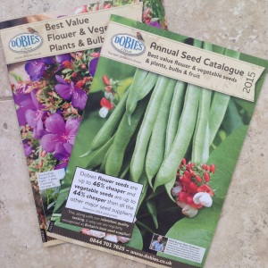 Use catalogues when planning your allotment planting