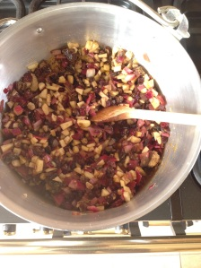 Rhubarb and date chutney