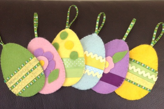 Felt egg decorations