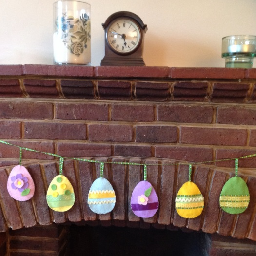 Felt Easter egg decorations