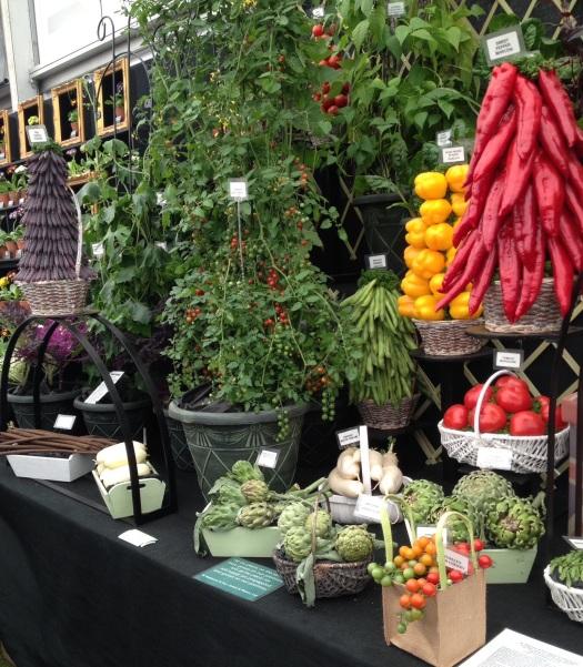 Chelsea Flower Show vegetable display